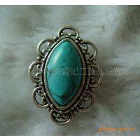 盛记宝石  马眼形绿松石戒指 欧美戒指 情侣戒指 个性戒指 戒指