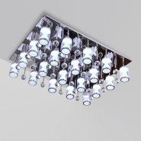厂家直销LED白色创意吸顶水晶客厅卧室餐厅灯具可定做包工程
