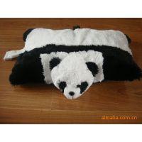 加工定制动物头系列抱枕 熊猫、猴子、蜜蜂靠垫 填充毛绒玩具靠枕