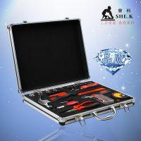 赛科手动家用工具箱套装 五金工具组套 维修手提箱合铝合金外箱