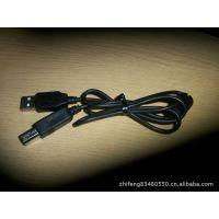 供应生产黑色环保USB2.0A公转B公带磁环数据线