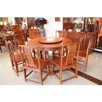 红木圆桌花梨木圆桌东阳红木家具品牌