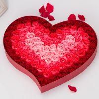 情人节浪漫礼品第二代保湿滋润美白香皂花渐变色玫瑰沐浴皂100朵