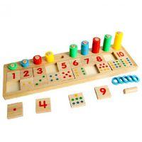 蒙氏教育蒙特蒙台梭利教学儿童数学对数板 宝宝早教教具益智玩具