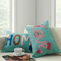 橡树庄园 创意大码沙发靠枕 小可爱字母抱枕十字绣靠垫
