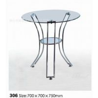【厂家直销】豪华玻璃圆桌/圆台/圆休闲桌/玻璃桌子/酒店桌