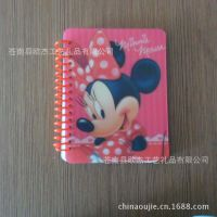 供应线圈本 迪士尼卡通线圈本 塑料单线圈笔记本、记事本厂家直销