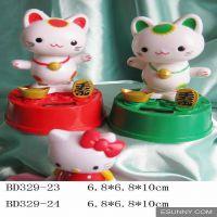 厂家专业塑胶搪胶,公仔,玩具喷涂喷油加工,招财猫系列价格优惠