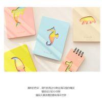 日韩创意文具海洋世界炫彩笔记本糖果色本子中号记事本 全场混批