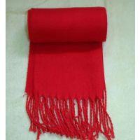 秋冬保暖围巾 围脖 本命年纯红系列围巾 喜庆红 仿羊绒 男女通用