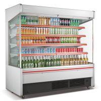 供应广东肇庆大型超市冷藏风幕柜/牛奶展示柜/一体机风幕柜