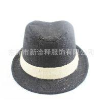 厂家直销男夏天遮阳帽 草编礼帽爵士帽 男士帽子夏季时尚款式