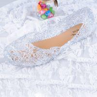 2014夏季新款洞洞鞋 鸟巢平底水晶鞋 凉鞋女 果冻鞋 厂家批发