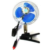 车载便携式电风扇 电吹风 轿车货车适用21W 12V 6寸带夹车用电扇
