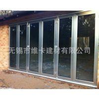 厂家直销高档铝合金时尚门窗 手动折叠门窗 招收代理