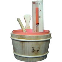 桑拿浴浇水木桶和木勺/白松木桶木勺/白桦木桶木勺
