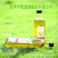 厂家直销新款橄榄油瓶250Ml 高白料玻璃橄榄油瓶优质墨绿橄榄油瓶