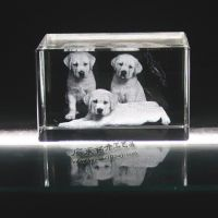 心爱宠物照片水晶内雕 K9水晶内雕摆饰 水晶内雕相片摆饰