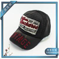 新款全棉洗水绣花帽 成人vintage棒球帽子 户外休闲太阳帽鸭舌帽