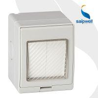 赛普供应SPL-2GS二位单控防水墙壁开关 两开单控防水开关带防雨盖