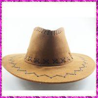 供应流行定型草编草帽 旅游遮阳帽 绅士演出帽子 大沿遮阳牛仔帽