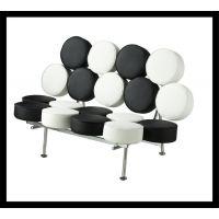 【卡格拉】个性造型沙发椅黑白圆拼三人沙发售楼部会所会客椅F-78