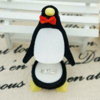工艺品 花篮 企鹅戒指盒 高档首饰盒 可装简单迷你小型戒子 圣诞