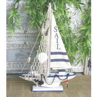 热卖 zakka杂货  地中海风格 帆布船 桌面摆件 现代简约 家居装饰