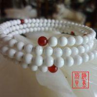 时尚天然砗磲可松紧缠绕手链 4-6mm高端商务文化佛教礼品