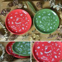 ZAKKA 杂货 出口日单 圣诞新年圣诞老人麋鹿饼干小碟 零食碟