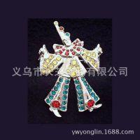 异域风情饰品 镶钻胸针 太阳马戏团小丑演员胸针 俄罗斯风情