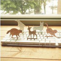 韩国文具 可爱动物PVC透明盒装键盘便签纸 便条5款96