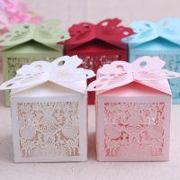 婚庆用品糖果袋 结婚喜糖盒 镂空喜糖包装盒子 婚宴回礼批发H11