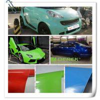 工厂供应亮光膜改色膜厂家 外饰改装用品 亮苹果绿改色车身贴贴纸