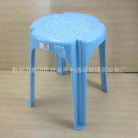 优质加厚塑料圆形餐椅子家居办公成人高脚带防滑垫 厂价直销