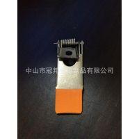 供应包胶LED面板灯筒灯射灯平板灯弹簧扣弹簧夹卡扣加工服务