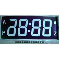 供应高档电子钟LCD液晶屏VA黑膜负显LCD液晶屏