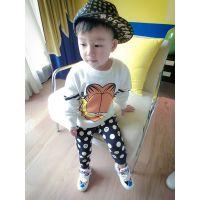 卡哇伊童装批发B 秋装韩版卡通男童打底衫 咖菲猫儿童长袖T恤