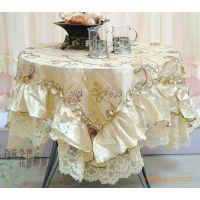 全新原装混批布艺田园花香餐厅桌布茶几布长方形