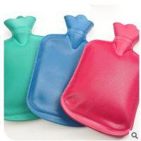 纯色橡胶热水袋 PVC橡胶热水袋充水暖水袋大号注水暖手袋 259g
