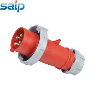 厂家直销3相四线工业防水防尘防腐电源插头400V  16A工业插头