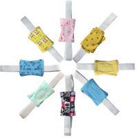 金英纯棉尿布带新生婴儿可调节/固定带高弹性布尿扣延长带尿布扣