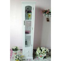 欧式韩式纯白小书柜/展示柜/陈列柜/BY100605田园木质植物花卉