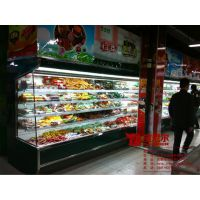 长春市牛奶冷藏展示柜 四面玻璃冷藏展示柜 水果冷藏展示柜