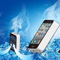 供应iphone造型 迷你掌上空调风扇 便捷式 USB充电风扇