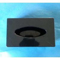 厂家KTV酒店用品 亚克力纸盒 有机玻璃纸巾盒 黑色 正方形纸抽盒