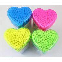 日韩 卫生棉包彩色塑料管棉签 棉棒 棉条盒装 棉签批发100只装