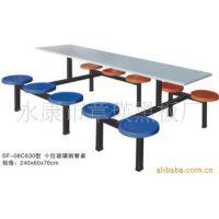 优价供应08C630型十位玻璃钢圆凳面餐桌 餐厅家具餐桌厂家批发