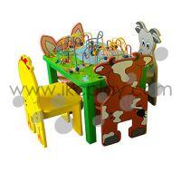 儿童农场桌椅系列 木制家具 益智玩具 儿童游乐基础设施