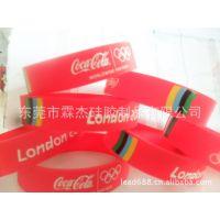 美国可口可乐硅胶手环 手环 赠品手环 大型促销活动手环硅胶